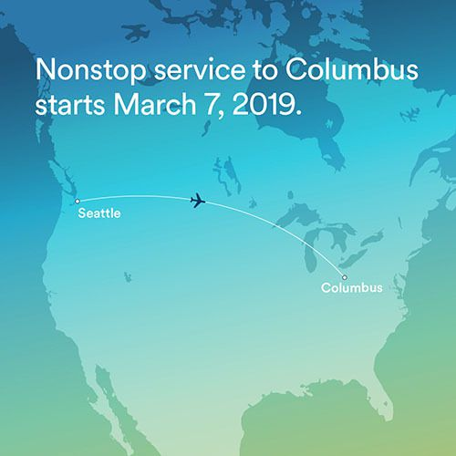 alaska airline non stop seattle columbus