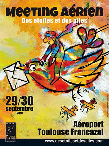 affiche meeting aerien des etoiles et des ailes toulouse francazal Bernard CADENE