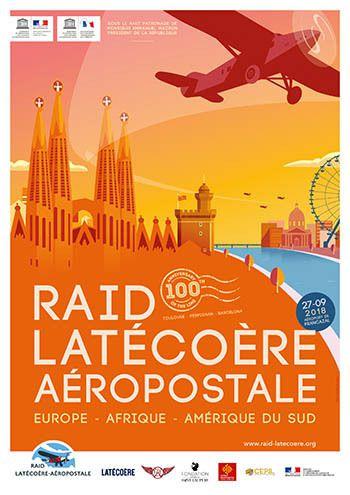 affiche officielle raid latecoere aeropostale 2018
