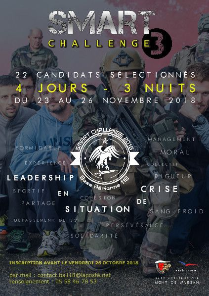 Flyer stage smart challenge occitanie nouvelle aquitaine armee air