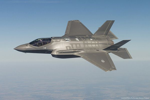 Test flight Norwegian F-35