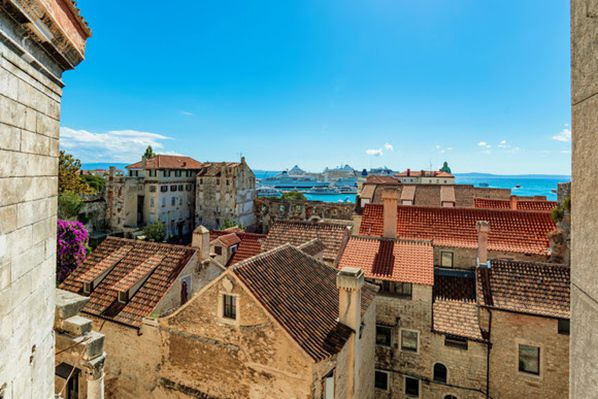 View of Old town architecture in Split ©stockinasia