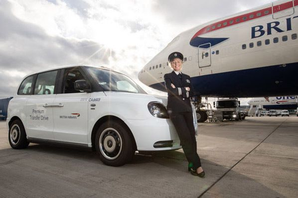 electric London taxis © British Airways 2018