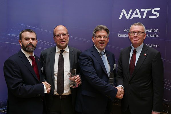 Pictured left to right: Tim Bullock – NATS Director Supply Chain, Herman Mattanovich - Member of Frequentis Executive Board, Andrew Madge - Managing Director Frequentis UK, and Rob Watkins – NATS Technical Services Director