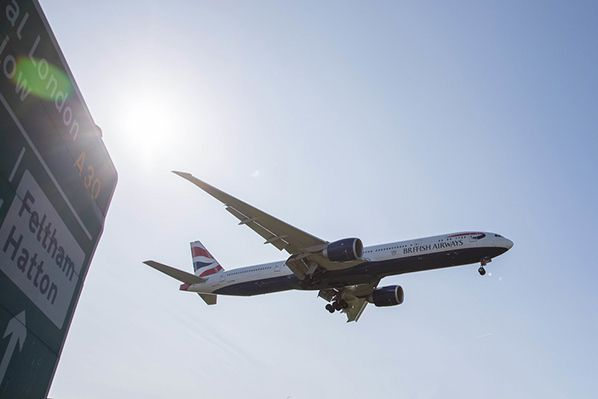 777-300 landing at Heathrow Picture by Nick Morrish/British Airways