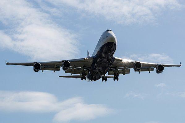 747 landing at Heathrow Picture by Nick Morrish/British Airways