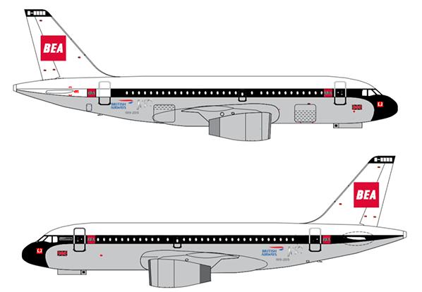 BEA A319 designs