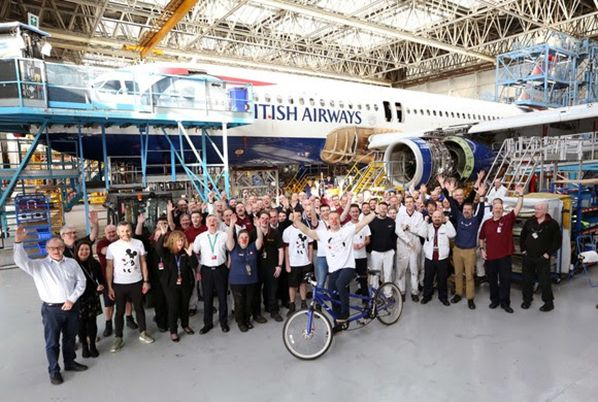 Sir Chris Hoy at Glasgow Engineering Hangar ©StewartRobertson.co.uk 07555 189973