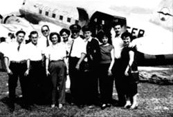 Equipage DC3 d'Aigle Azur - 1951