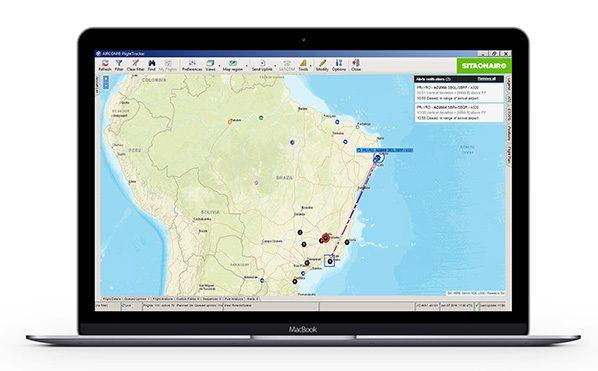 SITAONAIR's AIRCOM® FlightTracker with Aireon space-based ADS-B provided by FlightAware (CREDIT: SITAONAIR)