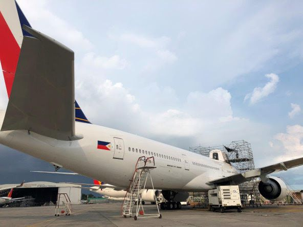 PAL's B777 GX Aviation rapid installation retrofit (CREDIT: SITAONAIR)