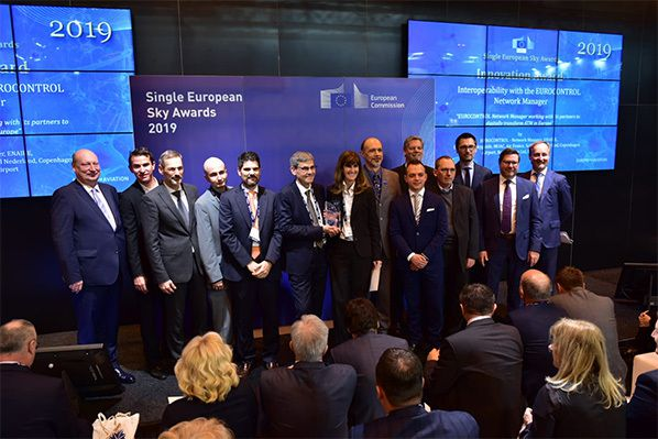 ENAIRE, together with Eurocontrol and the ANSP of France (DSNA), Germany (DFS) and Switzerland (Skyguide) received the Single European Sky Award in the Innovation category.