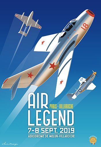affiche meeting aerien paris villaroche air legend 2019