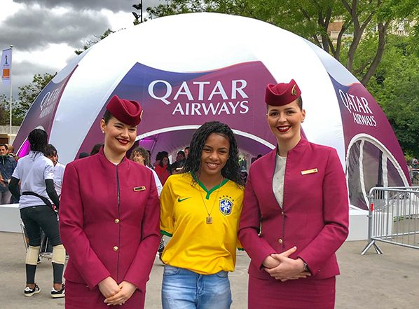 qatar airways jessica footballeuse bresilienne