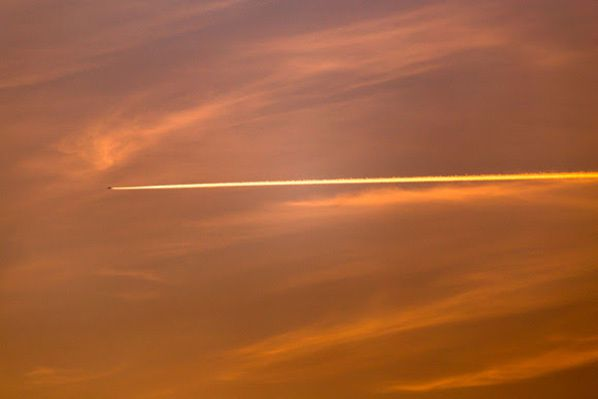 ciel sunset avion
