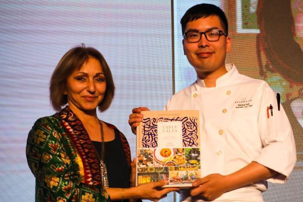 Hanan Sayed Worrell, food writer and author of Table Tales and Michael Wu, Bellagio Shanghai Deputy Executive Sous Chef jointly created a tapestry of cuisines for guests at the Gala Dinner