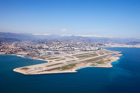 Nice approche france aeroport airport approach runway