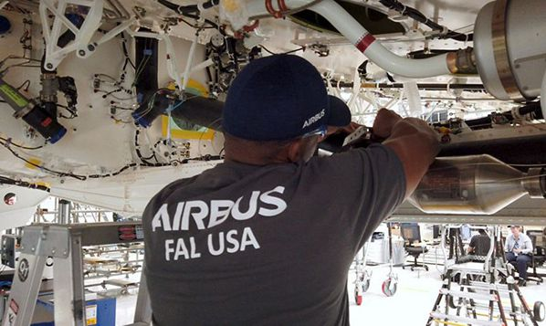 Airbus A220 final assembly line in Mobile, Alabama
