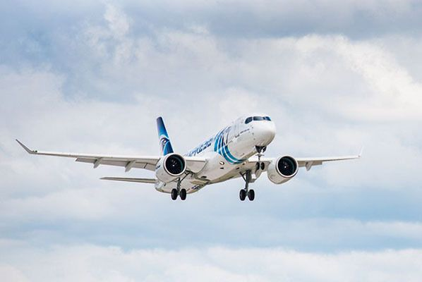 Airbus A220-300 EgyptAir First Flight
