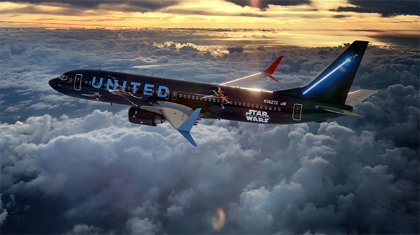 Star Wars Livery united airlines