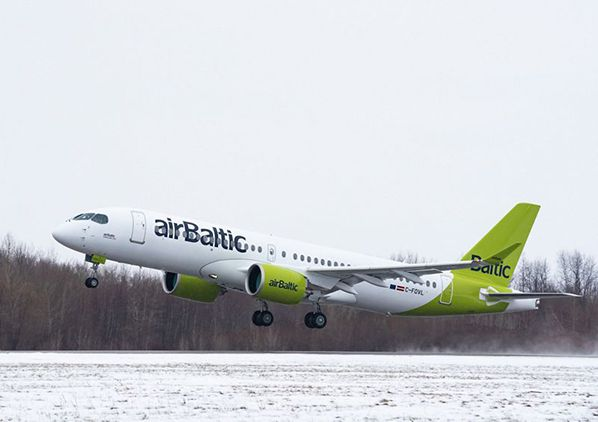 A220 airBaltic-Airbus celebrates the 100th A220 aircraft produced © irbus