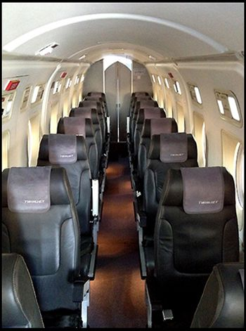 Photo Intérieur Beechcraft 1900  twin jet