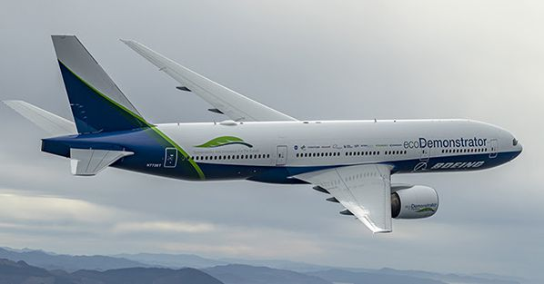 Boeing 2019 Copyright - Photos by JOHN D PARKER The Boeing Company, Boeing Test and Evaluation, Flight Operations, 777-200, ecoD, ecoDemontrator, Air 2 Air