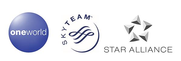 oneworld SkyTeam Star Alliance
