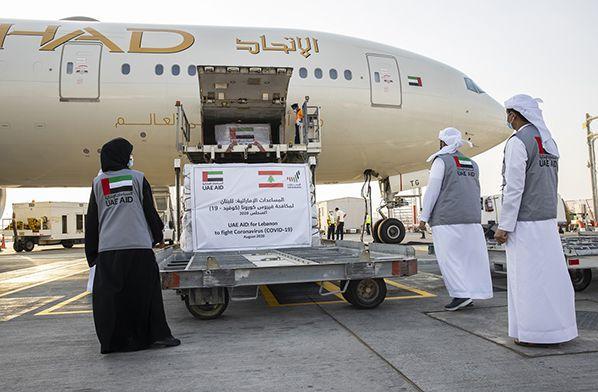 aerobernie Etihad Airways transports UAE aid to Beirut LR