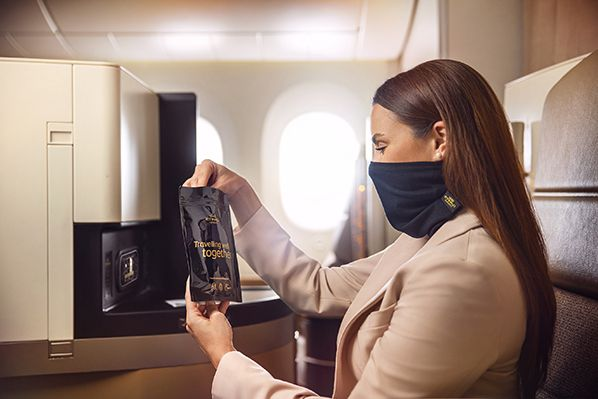 aerobernie Etihad introduces MicrobeBARRIER™ face protection SM