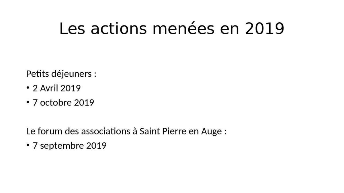 29 OCTOBRE 2019 : ASSEMBLÉE GÉNÉRALE DE L'A.U.R.G. DE SAINT-PIERRE-EN AUGE