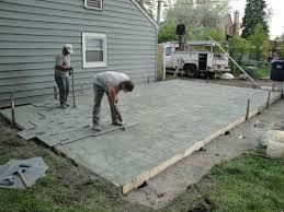 terrasse en beton