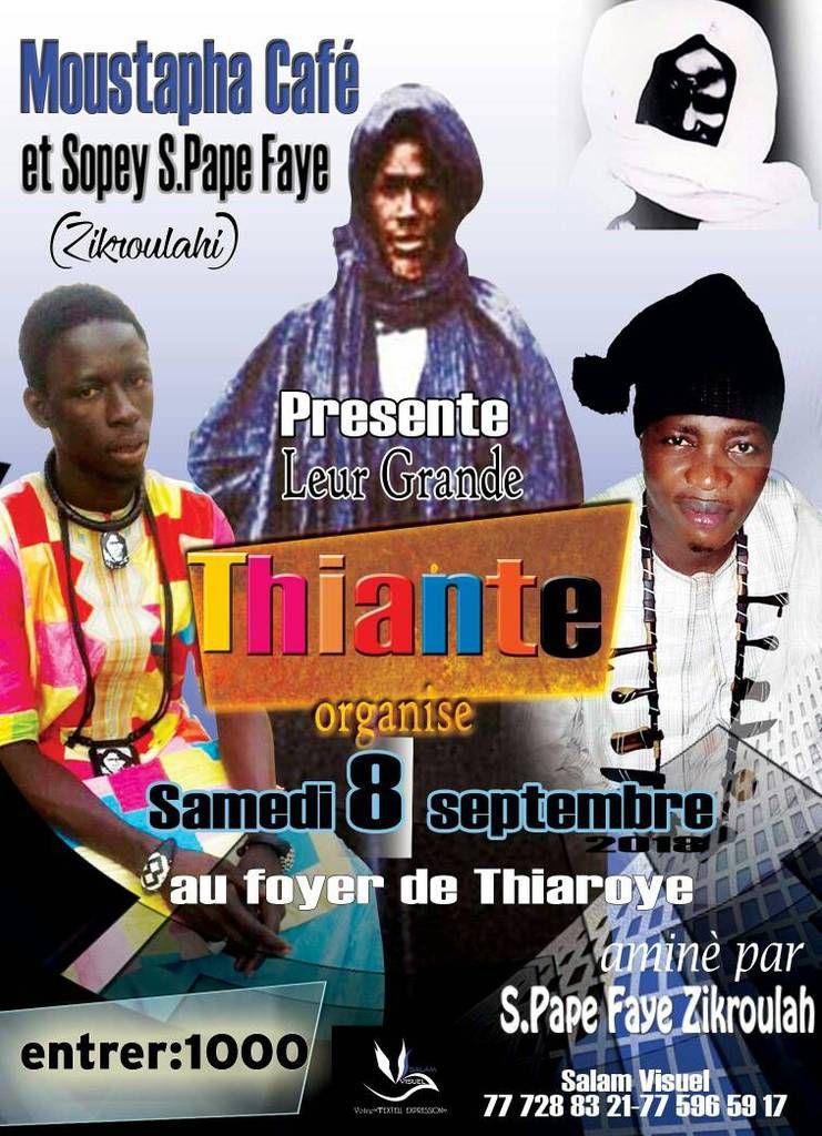 COMMUNIQUÉ // le grand thiante animé par PAPE FAYE ZIKOUROULA  // FOYER DE THIAROYE.