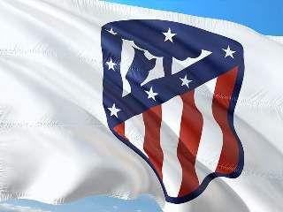 Une photo de l'emblème de l'Atlético Madrid