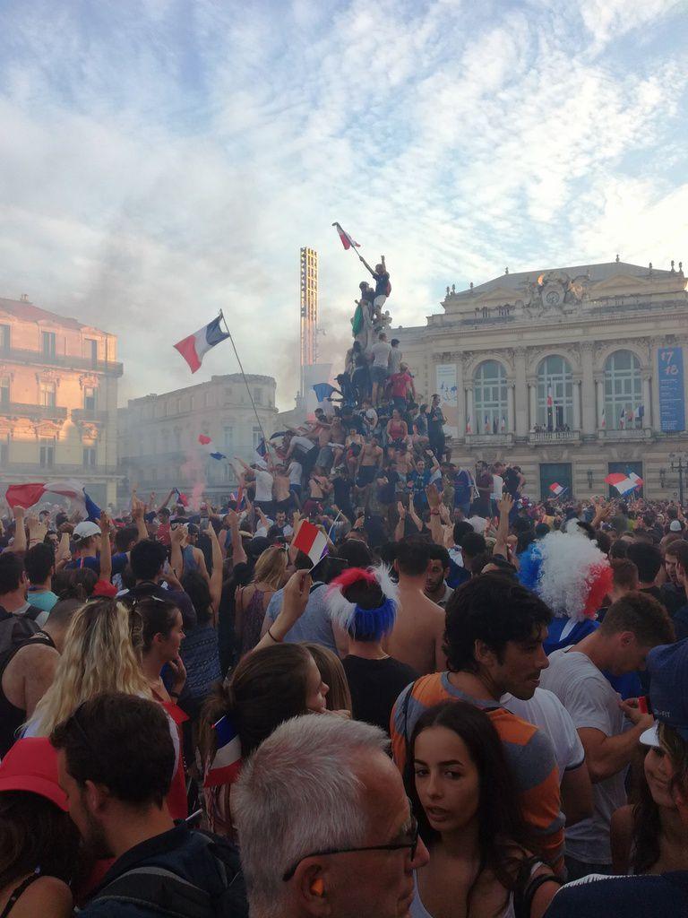 Montpellier, place de la Comédie, juillet 2018