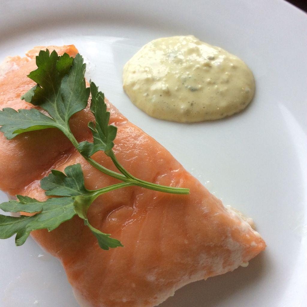 saumon à l'unilatéral en basse température