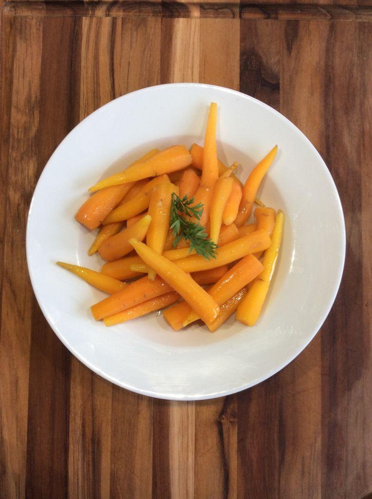 petites carottes glacées au beurre
