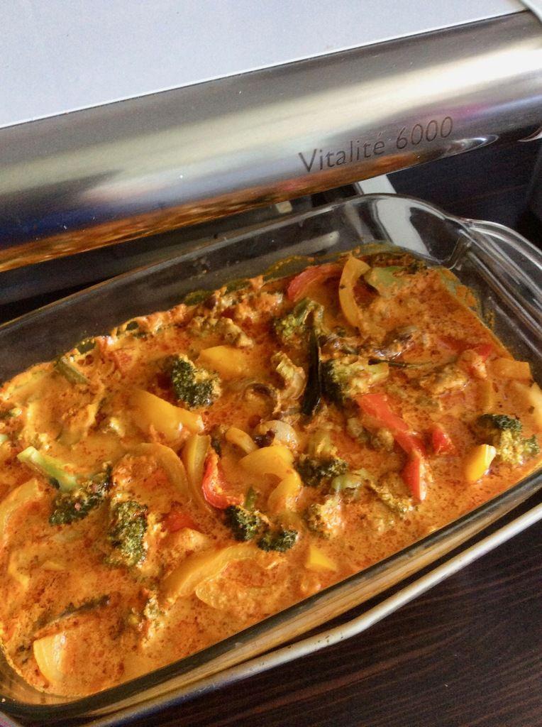 curry rouge aux poivrons et au boeuf