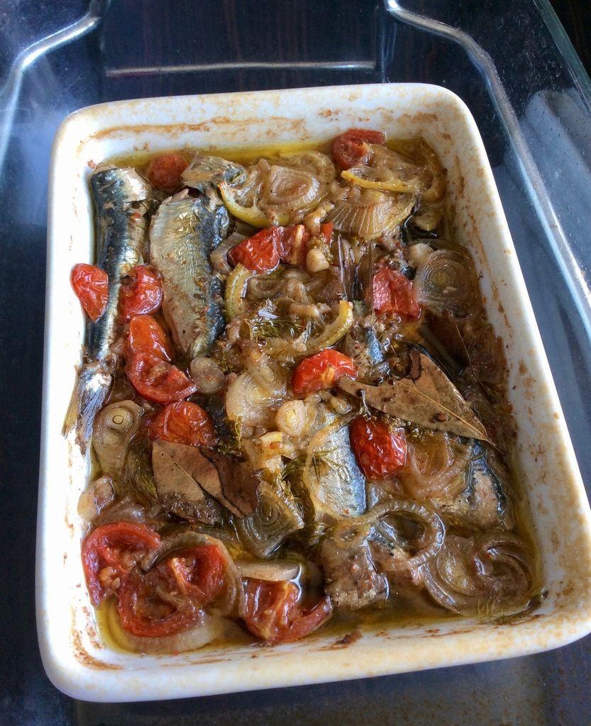 sardines en escabèche en basse température