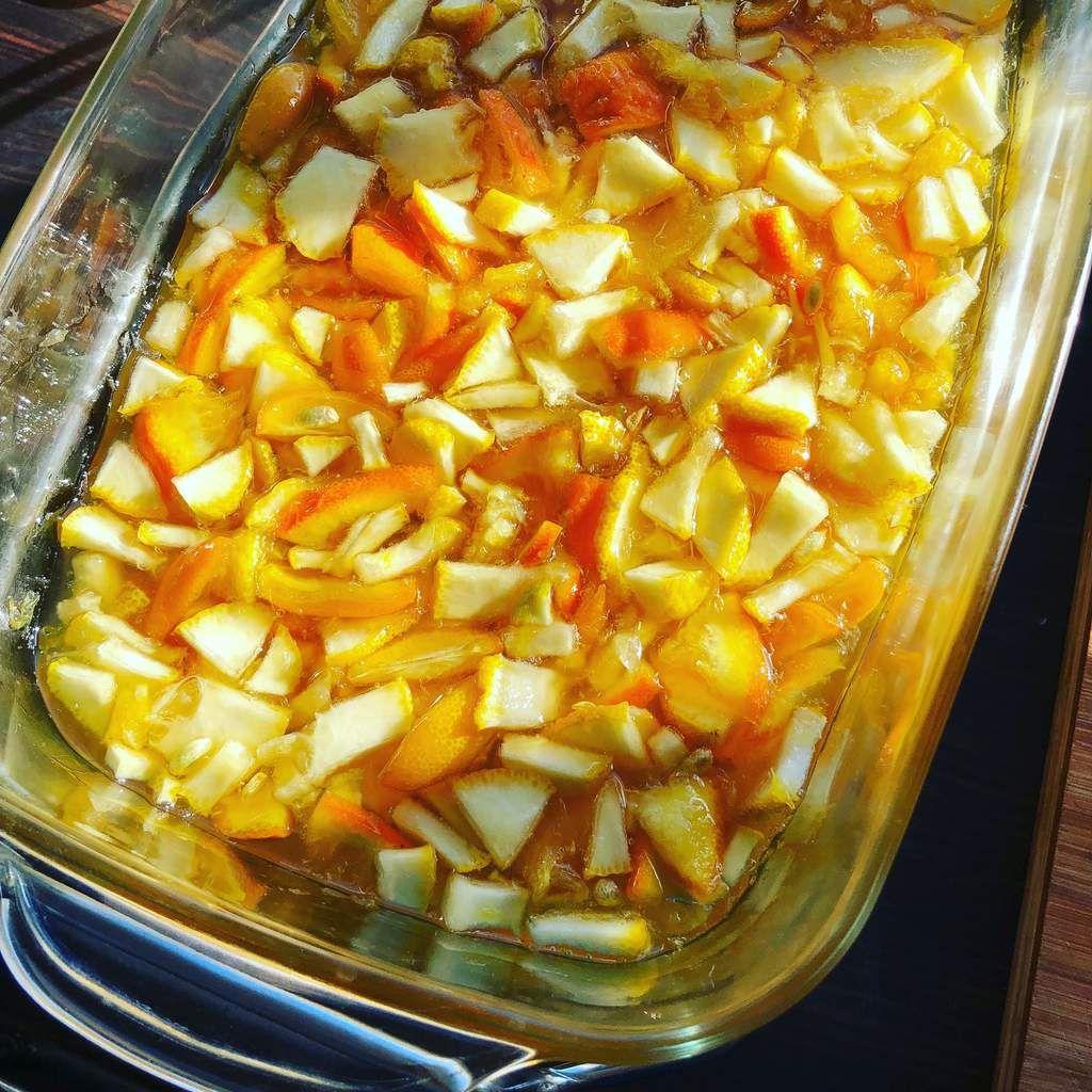 marmelade d'agrumes confits ( cédrat, orange et kumquat )