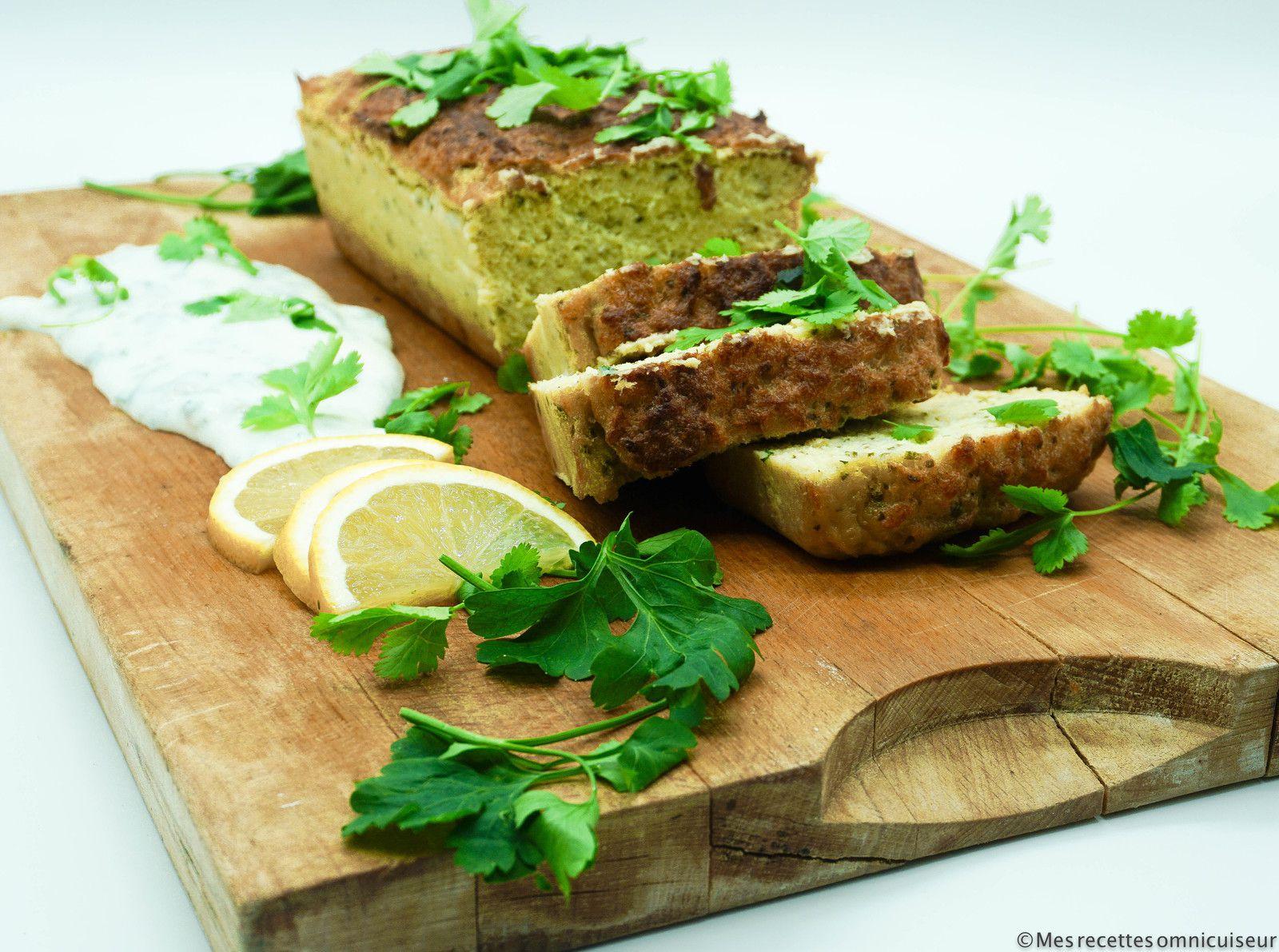 terrine de flétan au citron confit et à la coriandre cuit à l'omnicuiseur vitalité