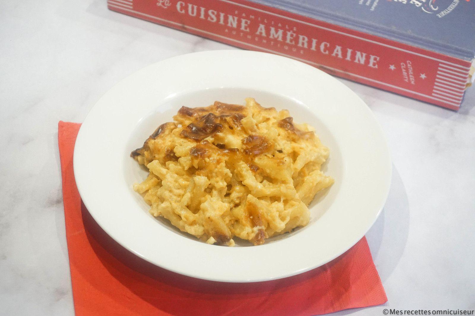 gratin de macaroni au cheddar cuit à l'omnicuiseur vitalité