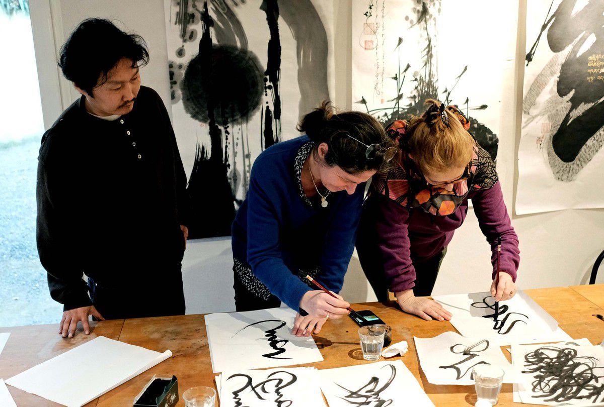 LA BASTIDONNE  :   Inauguration de la Maison des Calligraphies du Monde