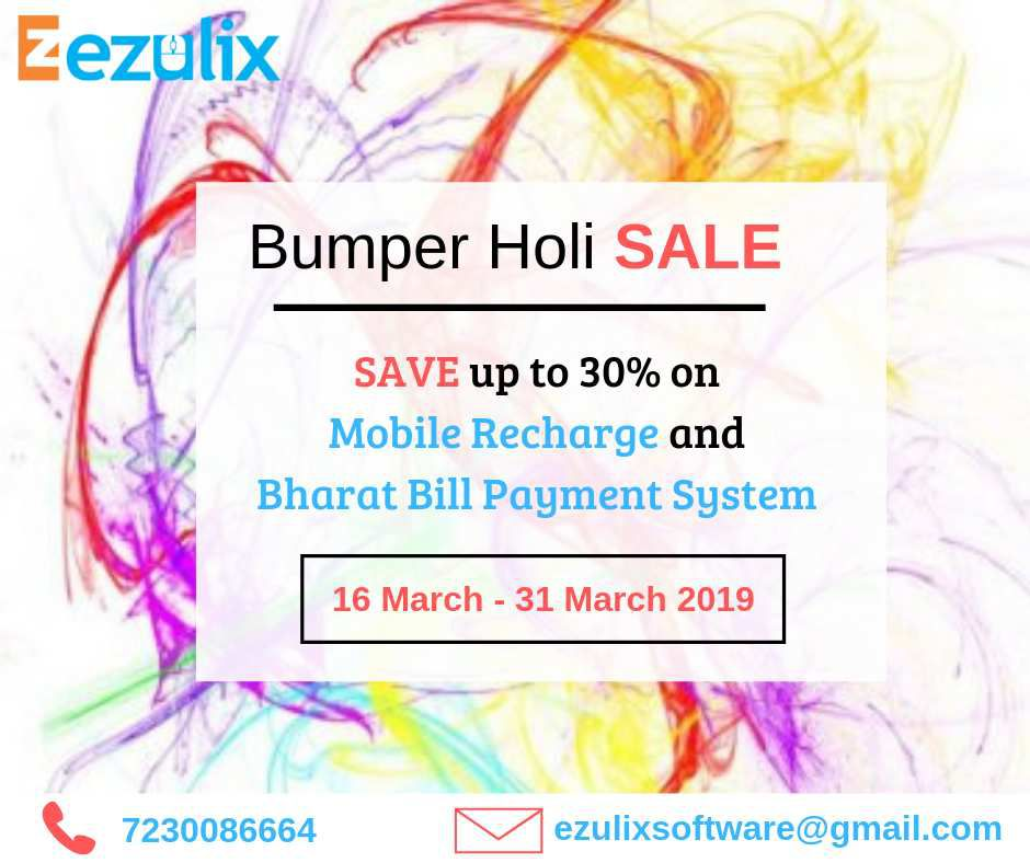 Bumper Holi Sale- Get 30% Discount on Mobile Recharge & BBPS