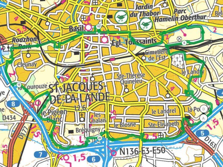 Vélo Tour Rennes Sud - 24,8 km