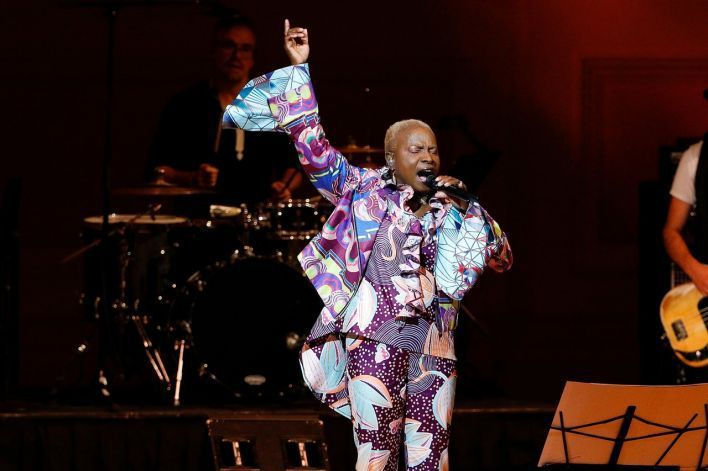 Stunning and mesmerising Angelique Kidjo launching Remain in Light at the Royal Festival Hall