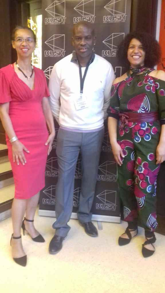 Patricia Lamour from Geeda and Marlon Palmer from Kush Films with Caro Sika