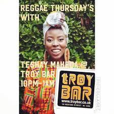 Reggae Open Mic night every Thursday hosted by Teshay Makeda backed by a live band