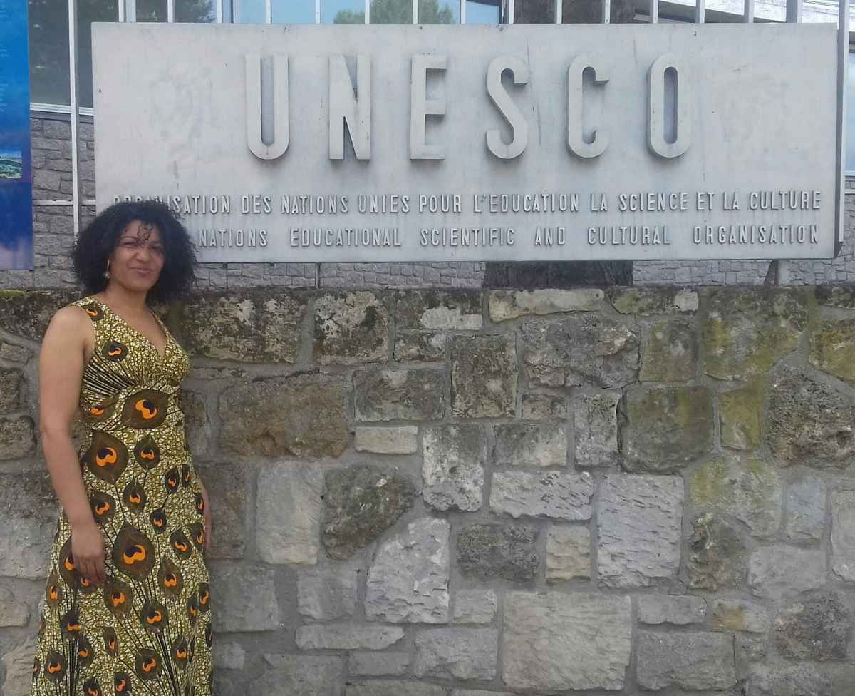 Caro Sika and Ali Moussa Iye, chief of History and Memory for Dialogue Section, UNESCO