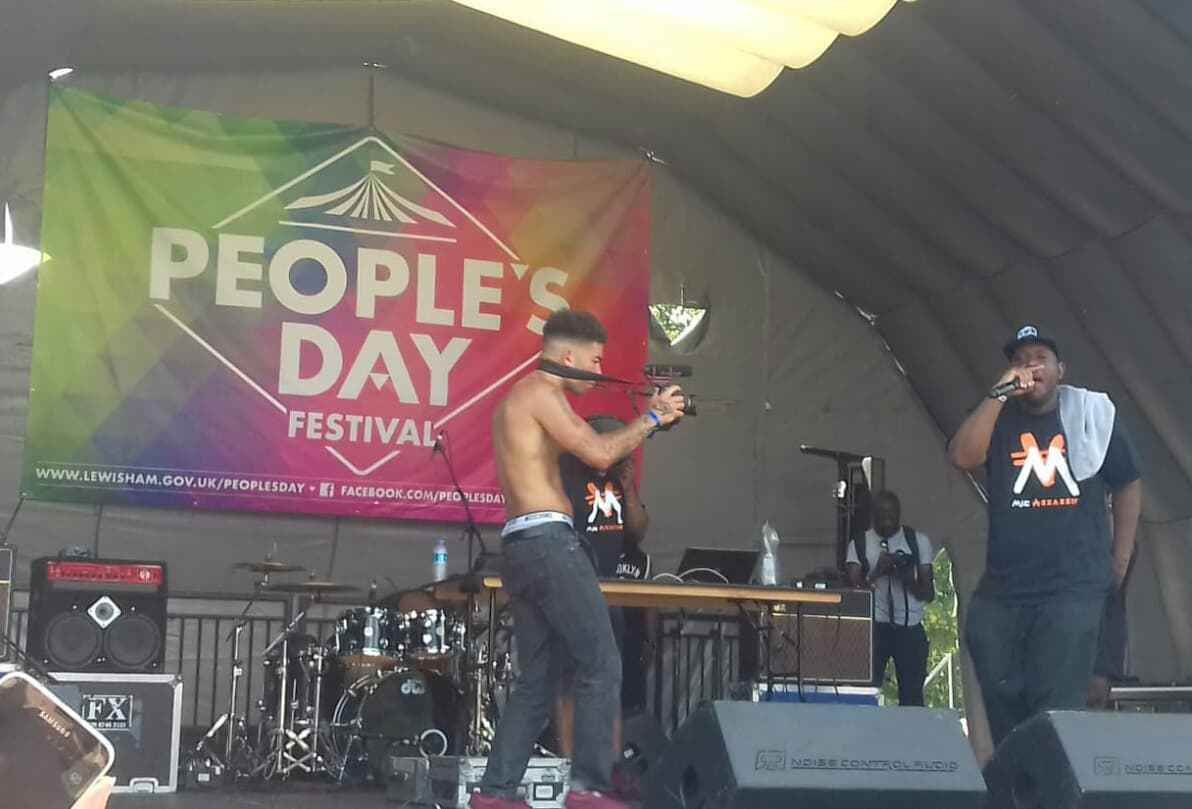Mic Assassin performing live Lewisham People's Day 2018